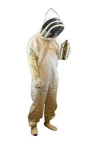 Professional grade Bee Suit Beekeeper Suit With Gloves Medium Size