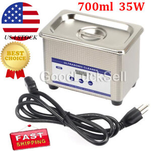 0 8l Ultrasonic Cleaner With Digital Timer For Jewelry Glass Cleaning Equipment