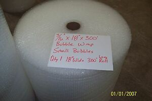 3 16 Wp Small Bubble Cushioning Wrap Padding Roll 300 X 18 Wide 300ft Perf 12