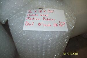 5 16 Wp Medium Bubble Cushioning Wrap Padding Roll 100 X 18 Wide 100ft Perf 12