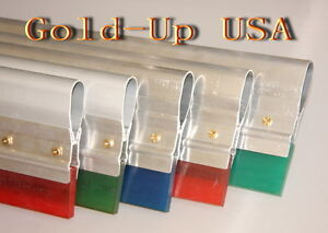 12 Screen Printing Squeegee aluminum Handle With 70 Duro Blade