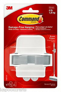 3 X 3m Command Broom Gripper Hook Tools Holder Damage Free Hanging Strong