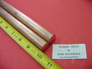 2 Pieces 3 4 C110 Copper Round Rod 10 Long H04 Solid Cu New Lathe Bar Stock