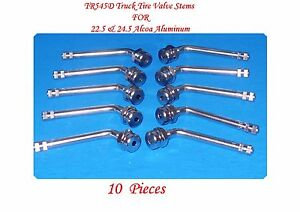 10 Kits New Tr545d Truck Tire Valve Stems For New 22 5 24 5 Alcoa Aluminum