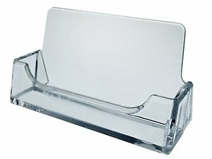 Sale 24 Desktop Business Card Holder Clear Plastic Display Fast Free Shipping