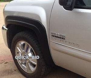 Factory Style Fender Flares For 2007 2013 Chevy Silverado 1500 Crew Cab 5 8 Bed