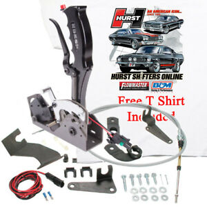 Hurst 3162007 Black Pistol Grip Quarter Stick Shifter Gm Th350 375 400 Forward