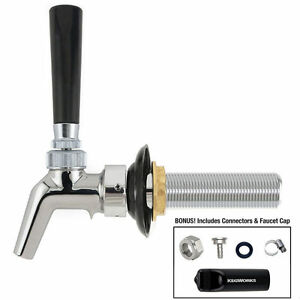 Perlick 630pc Chrome Faucet Shank Tap Handle Kit Kegerator Draft Beer 525pc