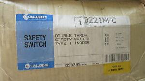 Challenger D221nfc 30 Amp 240 Volt 2 Pole Double Throw Switch Ats174 new