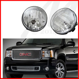 For 07 13 Gmc Sierra Bumper Fog Light Oe Style Replacement Set Assembly Pair