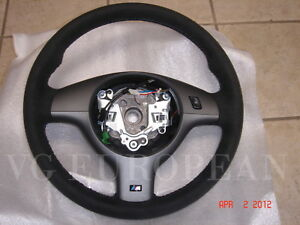 Bmw E46 M3 Genuine Alcantara Leather Suede M Steering Wheel Competition Package