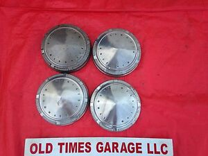 1968 69 70 Plymouth Road Runner Cuda Gtx Poverty Dog Dish Hubcaps Set Of 4