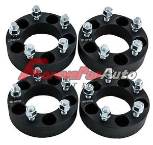 4pc 1 5 5x4 5 Black Wheel Spacers Adapter 1 2 x20 Studs For Ford Explorer Sport