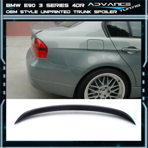 06 11 Bmw 3 Series E90 4d 325i 335xi Oe Factory Unpainted Abs Rear Trunk Spoiler
