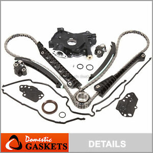 04 08 Ford F150 Lincoln 5 4l 3 valve Timing Chain hp oil Pump Kit cover Gaskets