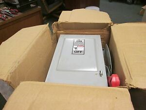 Siemens Non fusible Safety Switch Disconnect Hnf261 30a 600v 2p New Surplus