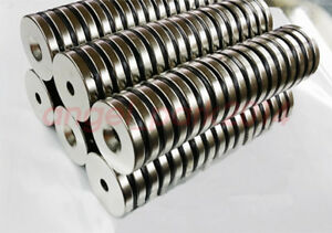 5 50 Pcs 30x5mm Hole 5mm Powerful Round Disc Rare Earth Neodymium Magnets N52