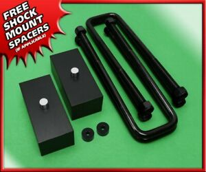 Rear Lift Kit 2 Billet Blocks W U bolts For 2005 2020 Nissan Frontier 2wd 4wd