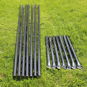 Steel Posts Galvanized Black Pvc Coated 7 pack For 7 5 Deer Fencing