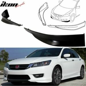 Fits 13 15 Honda Accord Sedan 4dr Hfp Style 2pc Front Lip Underbody Spoilers Pp