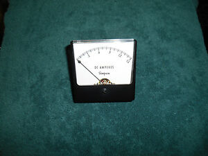 Simpson Model 1327 Analog Meter 0 1 5 Amps Dc Tested
