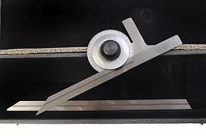 Somet Protractor Includes 12 6 Scale In Hard Case Free Shipping
