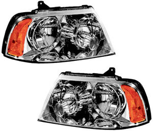 Hid Xenon Headlights Assembly w bulb New Pair Set For 03 06 Lincoln Navigator