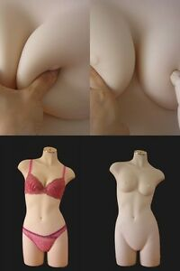 Lifesize Dummy soft nude Flesh Female Mannequin Torso Dress Form Display 06