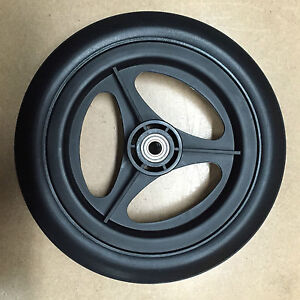 Lot Of 14 11 Black Rubber Tread Garbage Trash Industrial Cart Wheels