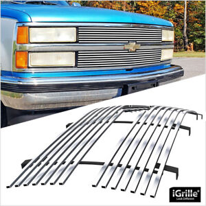 Aluminum Billet Grille Customized For 88 93 Chevy C K Pickup Suburban Blazer