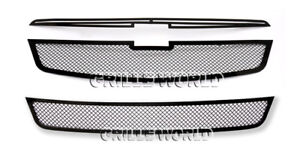 Ss 1 8mm Black Mesh Grille Combo For 11 2013 Chevy Cruze Lt ltz Rs Package
