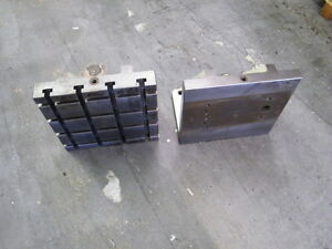 Tomstone City 2 Pcs 16 X 16 X 12 Right Angle Plates T Slot Blank Tooling Mill