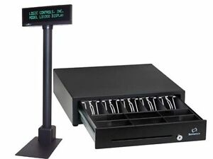 Pcamerica Cre Logic Controls Ld1000 Pos Customer Pole Display Cash Drawer New