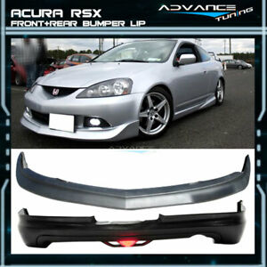 For 05 06 Acura Rsx Dc5 Mugen Urethane Front Rear Bumper Lip Spoiler Led Light