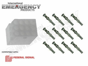 12 Pin Connector Plug For Federal Signal Smart Siren Ss2000 ss Pa300 Vista Ss200