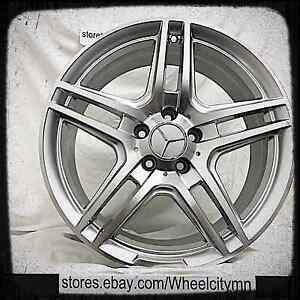 17 X8 Hyper Silver Mercedes Amg Oe Factory Replica Wheels Ml 320 350 500 5x112