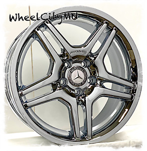 17 X8 Inch Chrome Mercedes Amg Double Spoke Oe Factory Replica Wheels Rims 5x112