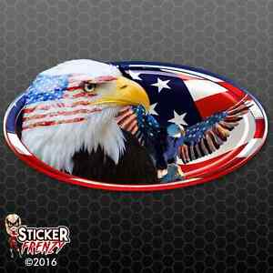 Usa Oval 2 Eagles Decal American Flag Car Truck Camper Rv Motor Home Sticker
