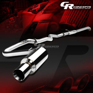 4 Rolled Muffler Tip Catback Racing Exhaust System For 05 10 Scion Tc Coupe 2 4