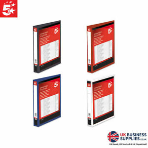 5 Star A4 Presentation Ring Binder Display Files Multiple Colours sizes