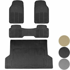 4pc Premium All Weather Rubber Car Floor Mats Cargo Trunk Liner Import Cars