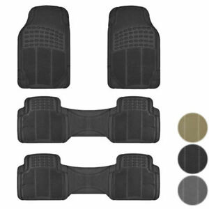 New 3 Row All Weather Suv Rubber Floor Mats Liners 4pc Set American Suvs Trucks