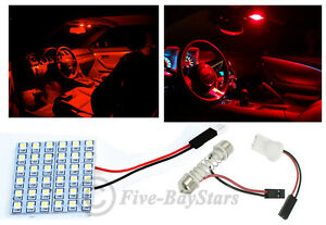 2pcs T10 Festoon Universal 36 Smd Plasma Red Led Panel Interior Dome Map Light