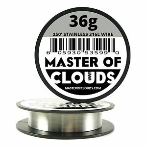 Ss 316l 250 Ft 36 Gauge Awg Stainless Steel Resistance Wire 0 127mm 36g 250