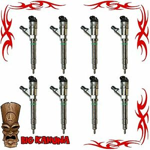 2004 5 2005 6 6l Lly Diesel Injector Set Of 8 For Chevy gmc Duramax