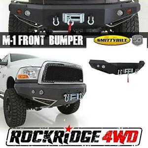 Smittybilt M1 Winch Mount Front Bumper W D ring Mounts Light Kit Dodge 06 09