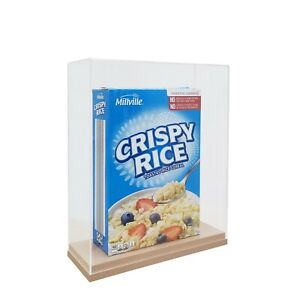 10 8x4x12 9 Cereal Box Display Plexiglass Cereal Box Case Clear Cereal Showcase