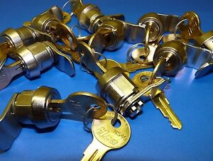 Lot Of 10 1 2 Cam Lock Set With Latch Choice Ilco N54g 2 Keys