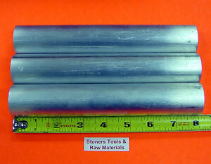 3 Pieces 2 Aluminum 6061 Round Rod 8 Long Solid Bar New Lathe Stock 2 000