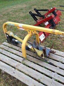 3pt Fence Post Hole Digger Auger Yard Garden Top Line Usa Jd Mf Farm Tractor